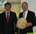 EU-Agrarkommissar Dacian Ciolos und Bauernpräsident Gerd Sonnleitner